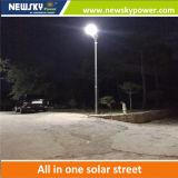 luz de calle solar integrada de 20W LED LED (toda en una solar)