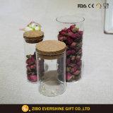 Glas-Speicher-Glas des Borosilicat-165ml mit hölzerner Kappe