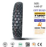 道の歯4.10-18を離れたオートバイのタイヤのタイヤの土のバイク