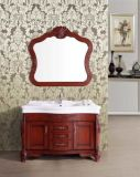 도매 Floor - Mirror를 가진 거치된 Solid Wood Bathroom Vanity