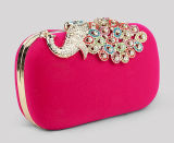 Mulheres Designer Fashion Peacock Lady Evening Hand Clutches Bag (XW006)
