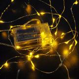 Luz a pilhas do fio de cobre do diodo emissor de luz da fonte da fábrica