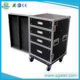 Flight Case Drawer with Table, Carrying Wheels