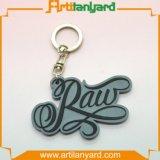 Corrente chave do PVC do costume com logotipo do projeto