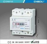 Contador de la energía electrónica del contador del registro la monofásico del Dinar-Carril