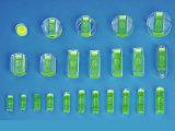 Nível de bolha, tubo de ensaio do nível de espírito, tubo de ensaio nivelado