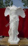 Carrara 백색 대리석 (SY-X1064)를 가진 돌 조각품을 새기는 새겨진 여자 동상