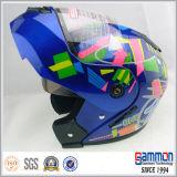 Повелительница Слегка ударять вверх по шлему для всадников мотоцикла с забралом Doubel (LP501)