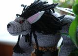 Jouet fabriqué à la main de poupée de Knit bourré par peluche de Warcraft de défaut de la reproduction sonore