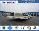 120トンのGoosenec平面Containerk Mafiロールロールトレーラー