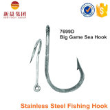 Silver Color Stainless Steel Angle Type Gancho de pesca 7699d