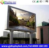 Mur visuel programmable extérieur P10 d'étalage d'écran de DEL