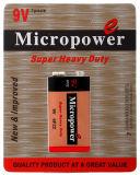 Bateria 6F22P/9V resistente super