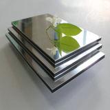 3mm / 4 milímetros / 5mm / 6mm Alucosuper espelho de prata painel composto de alumínio