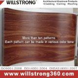 Panneau composite en aluminium texturé en bois