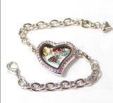 De douane Gevormde Armbanden van de Legering van het Zink van het Medaillon van het Venster van het Glas van het Kristal van Juwelen