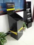 Étalage de poubelle de carton ondulé avec 1 coffre pour l'écouteur