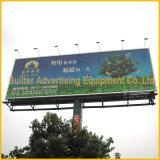 Trivisionの掲示板を広告している屋外の街灯柱