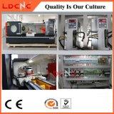 大きいスピンドル穴の精密水平CNCの回転金属の旋盤機械価格