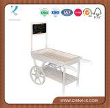 Chariot en bois personnalisé d'étalage de mémoire avec le tableau grand