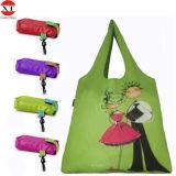 sac amical d'Eco de sac de polyester de la vente 2016hot d'achats de sac &Convenient bon marché pliable de traitement