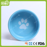 Ciotola di ceramica dell'animale domestico di orma del cane di disegno di modo