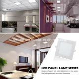Luz del panel delgada ultrafina redonda de 9W LED con el transformador