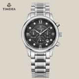 高品質ビジネスメンズ水晶ステンレス鋼の腕時計72161