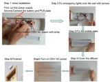 Indicatore luminoso Emergency sottile ricaricabile di plastica del segno LED dell'uscita di sicurezza dell'ABS