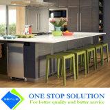 Gabinetes de cozinha cinzentos novos da mobília do folheado (ZY 1039)