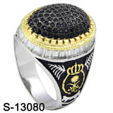 Nieuwe Model 925 Silver Men Ring met Small CZ (s-13088, s-13097D, s-13028D, s-13078W, s-13084D, s-13080)