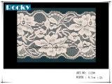 Larghezza variopinta 17cm del testo fisso del merletto di stirata di disegno del fiore