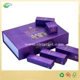 紫外線コーティング、押す化粧品および電子工学(CKT- CB-789)のためにホイルが付いているギフトの荷箱は浮彫りになり、