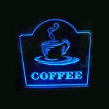 Duidelijke Acryl LEIDENE Vertoning voor de Winkel van de Koffie