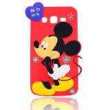 caja del silicón de Mickey de la historieta 3D para el iPhone 6 6splus 7 7plus Huawei Y6II para los accesorios del teléfono de Zte A510 A610 (XSD-024)