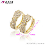 Form Newest Products 14k Gold-Plated Charming Crystal Bowknot Hoop Earring für Frauen 90166