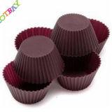 Mini moulage populaire de traitement au four de gâteau de silicones de forme ronde