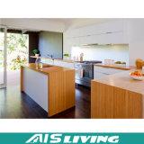 Furnier-Blattküche-Möbel Belüftung-Küche-Schrank-Melamin-Küche-Schrank AIS-K057