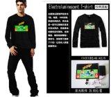 음악 t-셔츠 번쩍이는 t-셔츠 EL t-셔츠