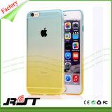Tampa gradualmente em mudança do telefone móvel da cor TPU para o iPhone 6s