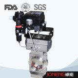 Válvula pneumática soldada higiênica da borboleta do aço inoxidável (JN-BV2003)