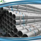 Los tubos galvanizados sueldan el tubo de acero para el material de construcción del andamio del uso