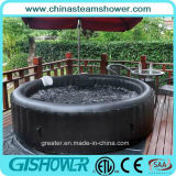 携帯用Inflatable Adult Outdoor Whirlpool Bath (pH050014 Black)