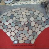 Бело/пинки/серо плитки камушка мозаики сетки для украшать ванную комнату