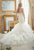 "Vestido ""sexy"" da princesa casamento de Tull da noiva da sereia 2017, personalizado"