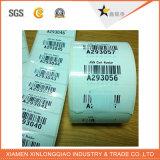 Contrassegno termico della stampante del codice a barre del vinile di stampa dell'autoadesivo autoadesivo su ordinazione di servizio