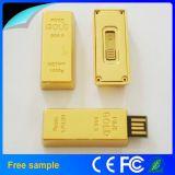 Оптовый реальный привод вспышки USB штанги золота металла емкости 8GB