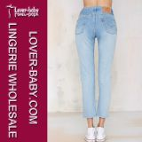 Nuovi jeans del denim delle ragazze di disegno di modo (L458)