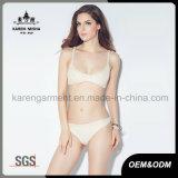 Gebreide de vrouwen rekten het Stevige Ondergoed van de Bikini van de Kleur uit