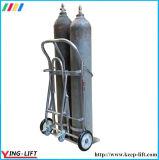 Caminhão de mão do cilindro do aço inoxidável com cilindro dobro Ty130b